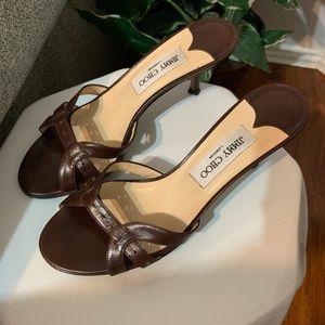 Jimmy Choo Slip-on Kitten Heel Sandals